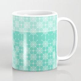 Portuguese Tiles of Lisboa in Green with Glitch Coffee Mug