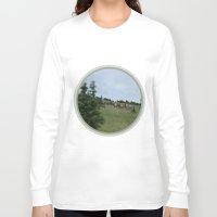 elk Long Sleeve T-shirts featuring Elk by Kaitlind Marek