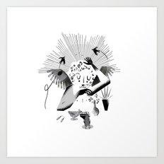 Feeding the birds Art Print