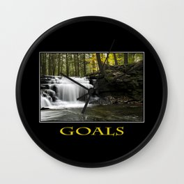 Inspirational Goals Wall Clock