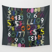 numbers Wall Tapestries featuring Numbers by Arken25