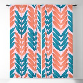 Abstraction_FLORAL Blackout Curtain