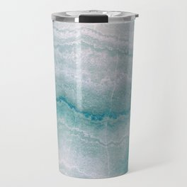 Sea green marble texture Travel Mug