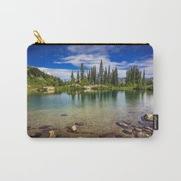 Mountain Lake in the Mt Rainier National Park Carry-All Pouch