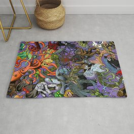 Cryptid Creatures and Mysterious Monsters Rug