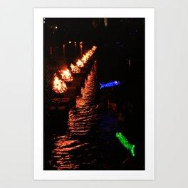 waterfire Art Print