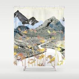 Daisy Mountain - Art Collage Shower Curtain