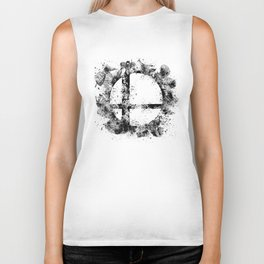Super Smash Bros Ink Splatter Biker Tank