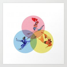 A Movement in Color  Art Print