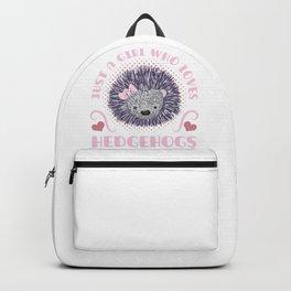 Girl Love Hedgehog Backpack