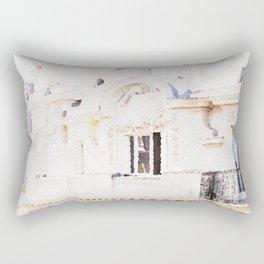 Paris Rooftops Watercolor Rectangular Pillow