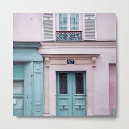 Paris Facades. Metal Print