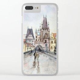 After the Rain Prague Charles Bridge Clear iPhone Case
