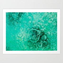 Bubbles Below Art Print
