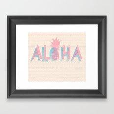 Vintage Aloha  Framed Art Print