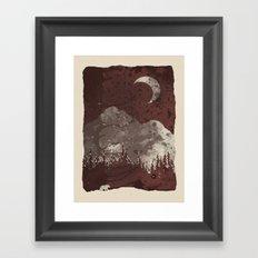 Winter Finds the Bear... Framed Art Print
