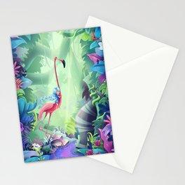 Girl & Flamingo Stationery Cards