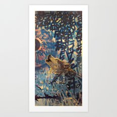 THE WOLF HOWLED AT THE STAR FILLED NIGHT Art Print