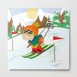 Winter Sports: Skiing Metal Print