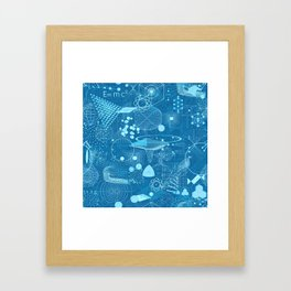 Science Schemes Pattern Framed Art Print