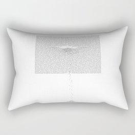 Erosion & Typography 1 Rectangular Pillow