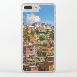 Favelas at Hill, Medellin, Colombia Clear iPhone Case