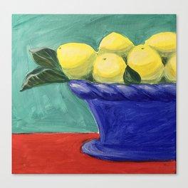 Sweet Summer Lemons Canvas Print