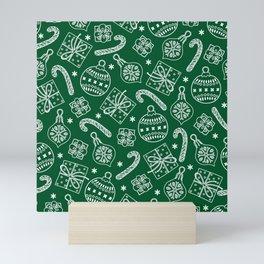 Christmas Doodle Pattern Mini Art Print