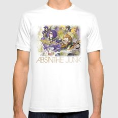 Absinthe Junk White Mens Fitted Tee MEDIUM