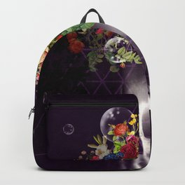 Skull with flowers no1 Backpack