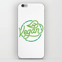 Vegan hand made lettering iPhone Skin