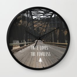 Fate Love the Fearless Wall Clock