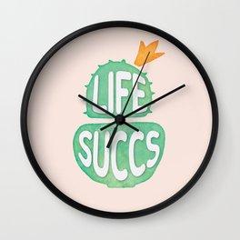 Plant Life Succs (peach) Wall Clock
