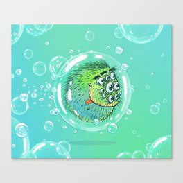 Bacillus B0b on bubble-transport Canvas Print