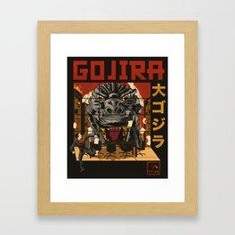 Gojira! Framed Art Print