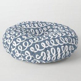 Loop da Loop . Classic Blue Floor Pillow