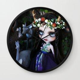 ISOBEL FAWN (Ooak BLYTHE Doll) Wall Clock