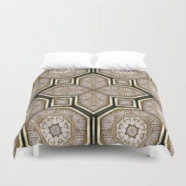 Victorian Art Deco Medieval Pattern gray SB18 Duvet Cover