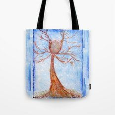 Bathed in Snow Tote Bag