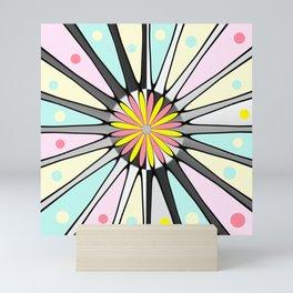 Happy geometric design Mini Art Print