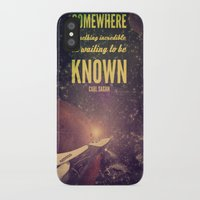sagan iPhone & iPod Cases featuring Space Exploration (Carl Sagan Quote) by taudalpoiart