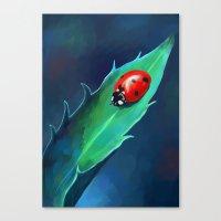 ladybug Canvas Prints featuring Ladybug by Freeminds