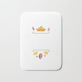 I'm Just Here For The Pie Happy Thanksgiving Bath Mat
