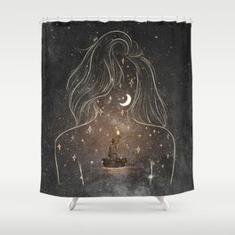 I see the universe in you. Shower Curtain