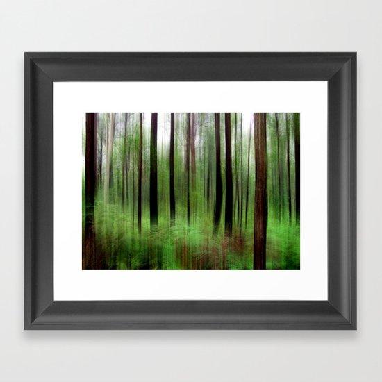 Eucalypts & Bracken Framed Art Print