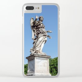 Angel with the Nails at the Sant'Angelo bridge - Rome, Italy Clear iPhone Case
