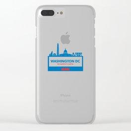 Washington DC Illustration Clear iPhone Case