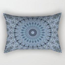 Gray and light blue mandala Rectangular Pillow