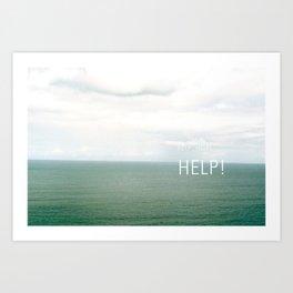 Help. Art Print