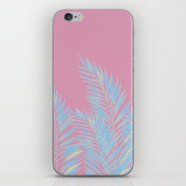 Palm Leaves Blue And Pink iPhone Skin